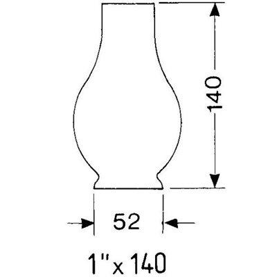 Cheminée pour lampe à cardan 1X140 pour: 8208,8214,8917