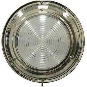 Dome light LED with switch stainless 3""
