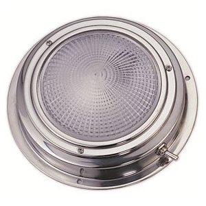 "Dome light LED stainless 5"" base is 6-1 / 2"""