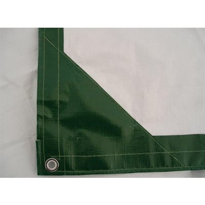 Tarp 8' X 10' green  /  white