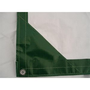 Tarp 16' X 20' green / white