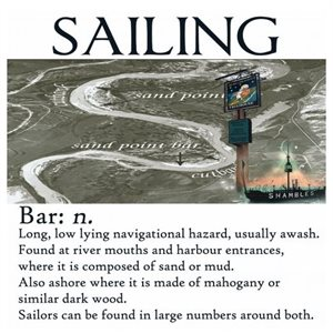 Sailing Card - Bar  15x15cm