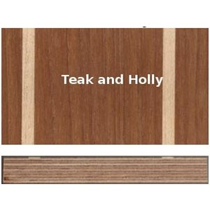 Plywood marine teak & holly 12 mm 4' X 8'