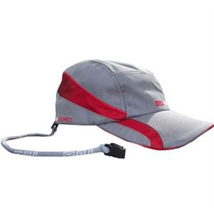 Quick Dry Cap silver / red