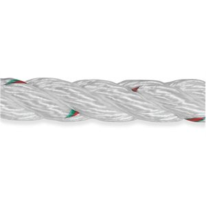 "Samson Pro-Set 3-Strand Nylon Line 5  /  8"" red and green tracers strength: 4,500 kg  /  foot"