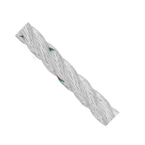 "Samson Pro-Set 3-Strand Nylon Line 9 / 16"" red and green tracers strength: 3,600 kg  /  foot"