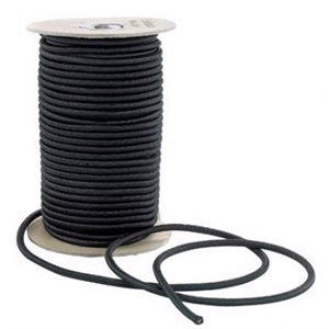 "Shock cord 1  /  8"" black   / foot"