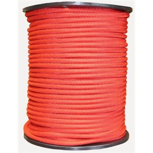 "Shock cord 1  /  8"" red   / foot"