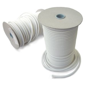 "Shock cord 1 / 4"" white   / foot"