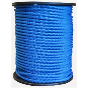 "Shock cord 1  /  4"" blue  per foot"