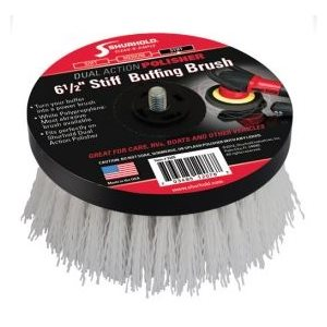 Buffing brush white stiff