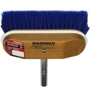 "Window and hull brush 8"" with extra soft blue nylon bristles easily and positively locks into any Shurhold handle"