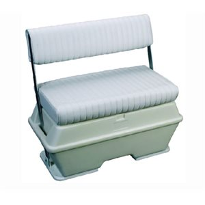 "Cooler / livewell swingback seat 50 quart white 17"" D x 30"" W x 34-1 / 2"" H"