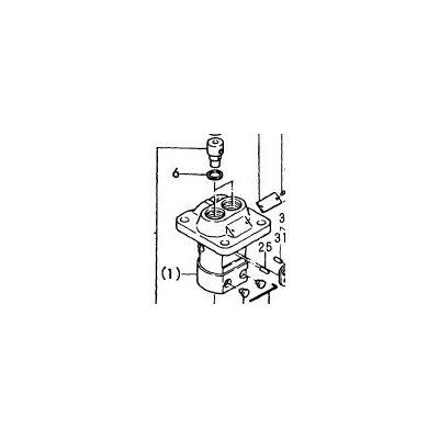 Fuel Pump Injector gasket (part #6 in diagram)