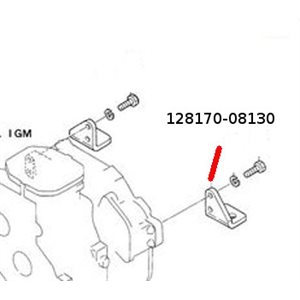 Engine bracket  rear 1GM