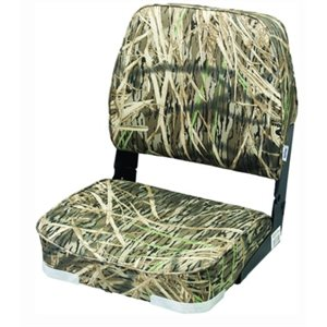 "Camouflage fold-down seat 18-1 / 2""D x 15-3 / 4"" W x 18-3 / 4""H"
