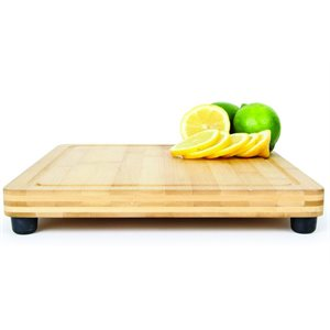 "Bamboo cutting board galley.RV countertop use with feet 11-13 / 16"" x 10"" x 13 / 16"""