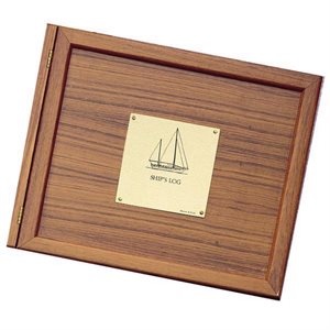 Weems and Plath Wood Log Book Cover For Sailboat