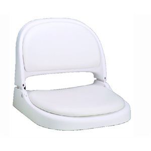 "Proform boat seat with cushions 18-1  /  2"" D x 19-1  /  4"" W x 16-1  /  2"" H"