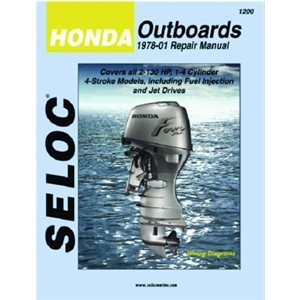 Seloc repair manual for Honda outboards 1978-2001 2.0-130hp