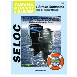 Seloc repair manual for Yamaha outboards  1995-2004 All 4 Stroke, incl. jet drives HP 	2.5-225