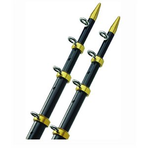 "Telescoping outriggers black / gold 15' L x  1 1 / 8""  dia pair"