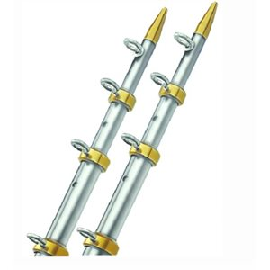 Telesoping outriggers silver  /  gold 18' L x 1 1  /  2' dia pair