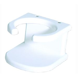 "Drink holder white poly 4-5 / 8"" x 3"" x 4-5 / 8"""