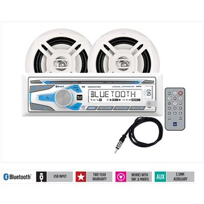 "Digital media receiver with Bluetooth® antenna and 6.5"" speakers"
