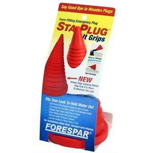 "Sta-plug soft emergency plug 9"" x 5"""