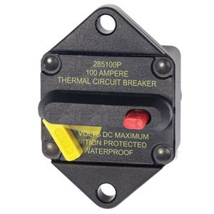 285-Series circuit breaker - panel mount 100A