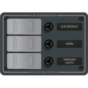 Blue Sea 3 Position Power Distribution Panel 12v DC