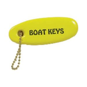 Key chain floating 'Boat keys' yellow