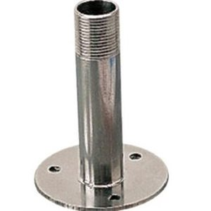 "Antenna base fixed 4-1 / 4"" x 3"" stainless"