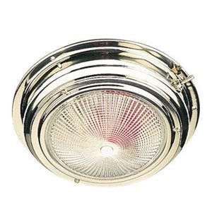 Dome light day(white) / night(red) stainless 6-3 / 4""