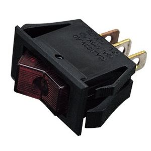 Illuminated. red rocker switch 15A 12V
