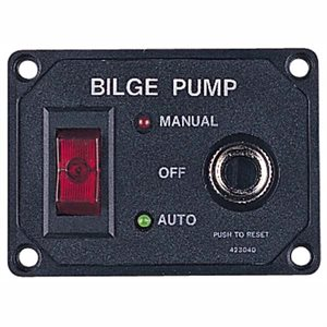 "Bilge pump switch with breaker 2-3 / 16"" x 3"""