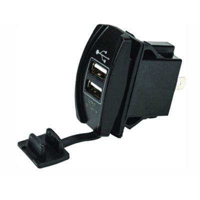 USB double rocker switch socket
