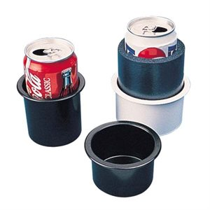 "Drink holder white flush mount 2-7  /  8 ""x 3"""