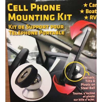 Magnetic cell phone mounting kit