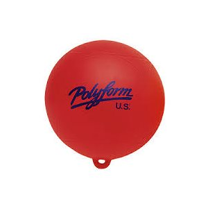 "Polyform water skiing buoy 9"" red"