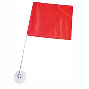 "Nylon skier down flag features 3-1 / 4"" suction cup,"