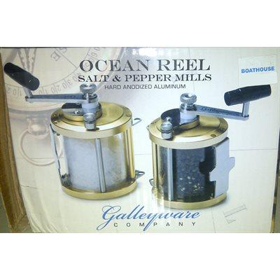 Ocean reel salt and pepper mills