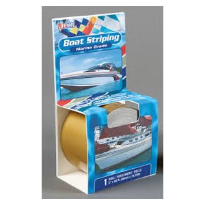 "Boat striping tape 2"" x 50'  metalic bright gold"