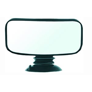 "Fully adjustable 4"" x 8"" convex suction cup mirror"