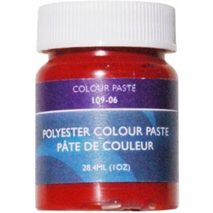 Gelcoat color paste red 1oz.