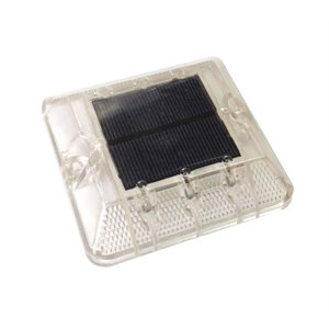 Dock light, solar powered with 6 cool white LED's