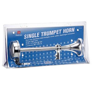Horn trumpet single stainless 12v