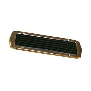 "Step plate brass and  black rubber 9"" x 3-3 / 16"""