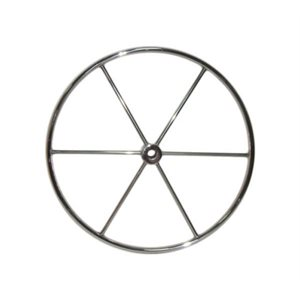 "Steering wheel stainless 34""  6 spoke 7 / 8"" rim"